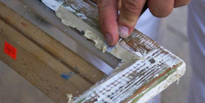Правильная обработка деревянной рамы счистка лишнего