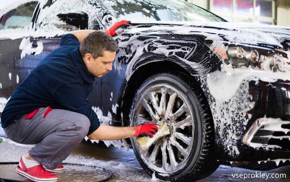 Мытье машины в домашних условиях