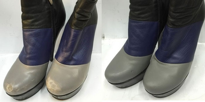 Вид сапожек до и после ремонта фото
