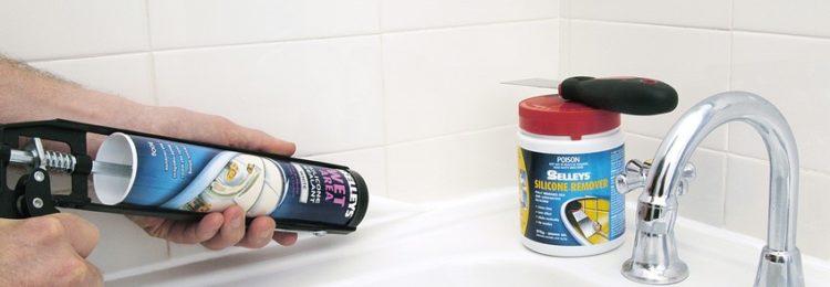 Герметик для ванной силиконовый