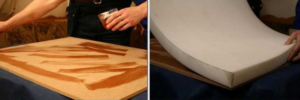 Метод склейки пенополиуретана с деревянной поверхностью фото