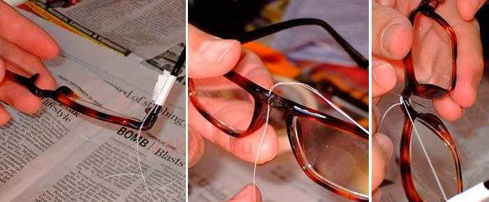 Как отремонтировать очки фото