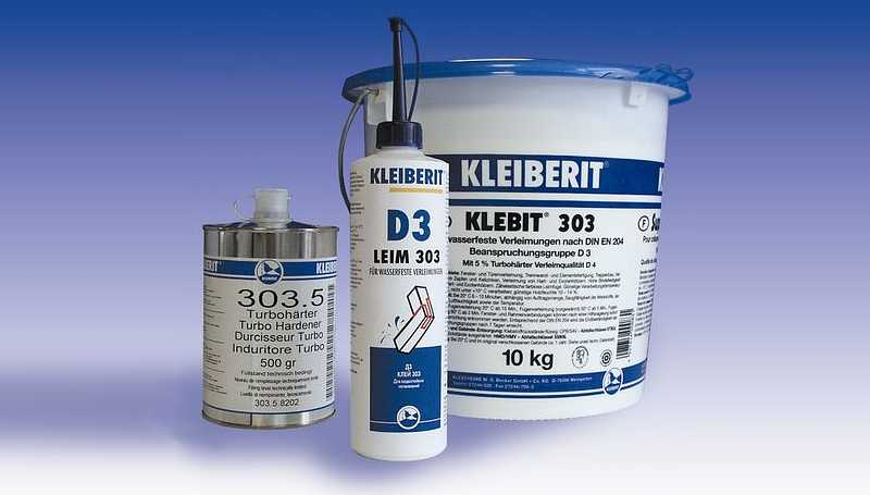 Упаковки клея Kleiberit на основе поливинилацетата фото