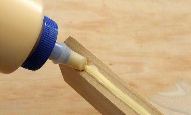 Столярный клей ПВА нанесение на деревянную поверхность