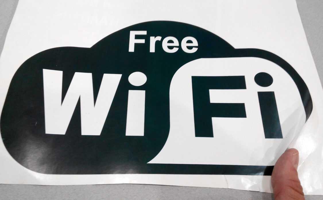 Внешний вид наклейки Free Wi-Fi фото