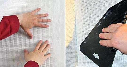 Технология по правильной оклейке стен стекловолнистыми обоями