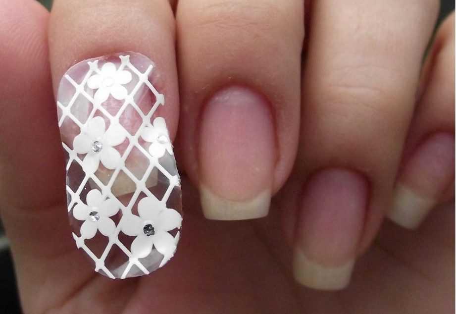 Пленка для ногтя на прозрачной основе с узором фото