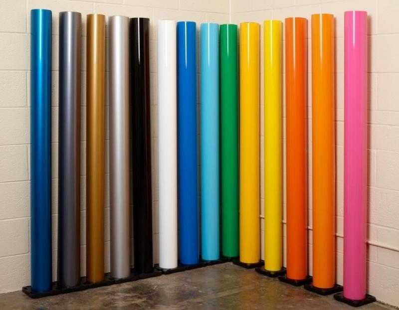 Цветовая палитра самоклеек для отделки поверхностей