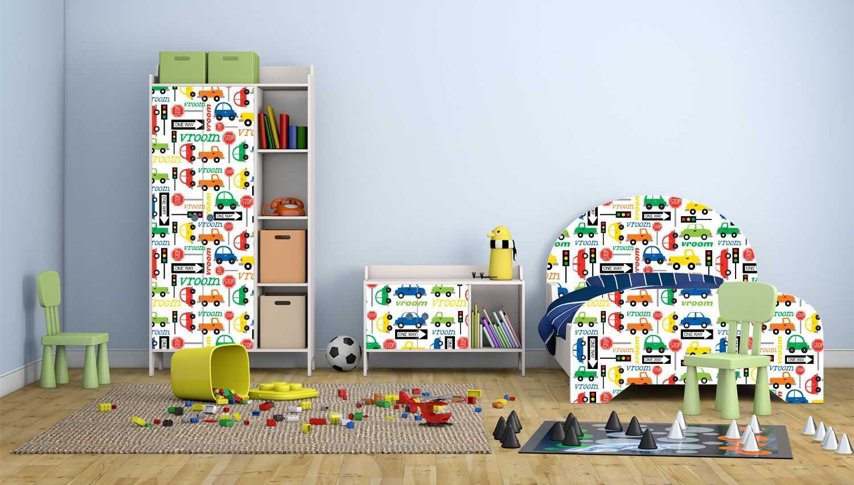 Красивая обстановка детской комнаты фото