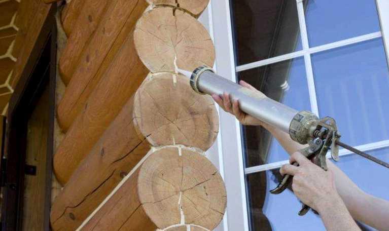 Герметизация срубов древесины своими руками