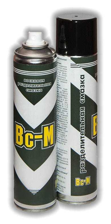 Профессиональный аэрозоль для смазки воском силиконовых изделий