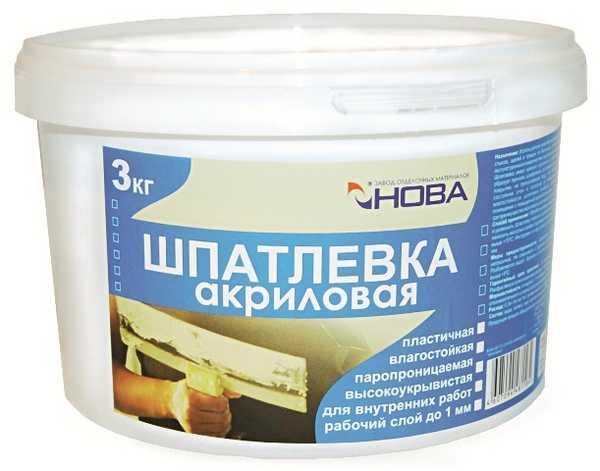 Пластичная шпаклевочная смесь для отделки стен