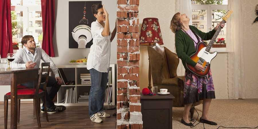 Стены без звукоизоляции пропускают шум
