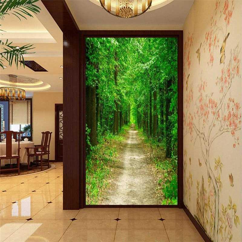 дизайн коридора с фотообоями расскажем, как это