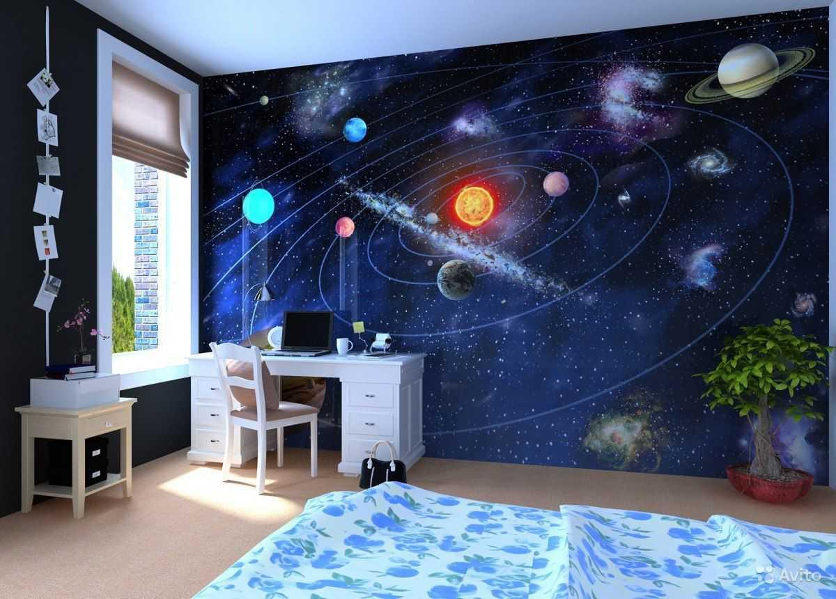 3д-обои в виде солнечной системы фото