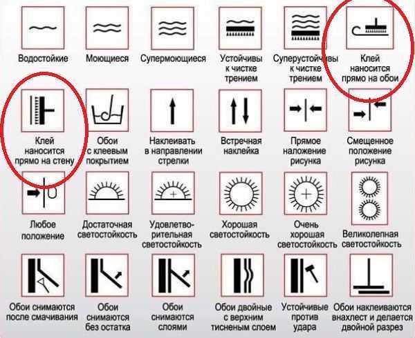 Обозначения на упаковках шпалер