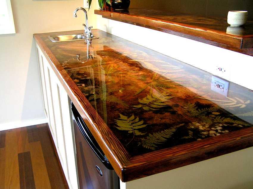 Декор кухонной рабочей поверхности своими руками