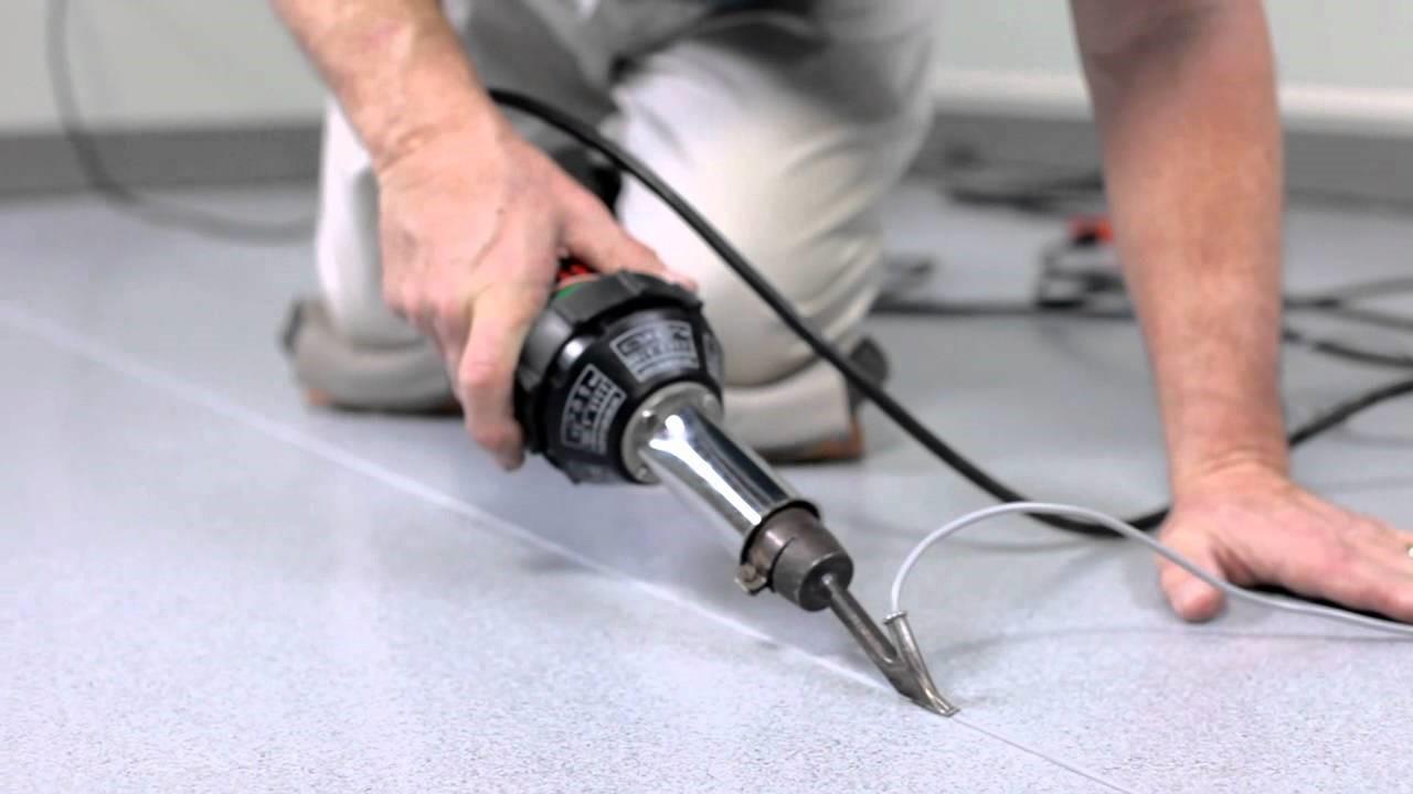 Как запаять стыки линолеумного покрытия?