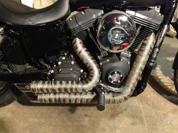 Защита выхлопной системы мотоцикла от перегрева